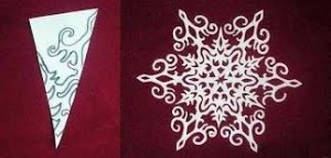 intricate paper snowflake