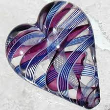 purple glass heart
